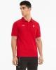 Polo Shirt Ferrari RACE PUMA Cotton 2021 short sleeves Red