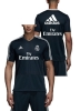 Real Madrid Adidas Maglia Allenamento Training Blu Sponsor Fly Emirates 2018 19