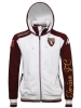 Torino Turin Kappa Felpa Giacca Cappuccio Hoodie Bianco 2016 17 Uomo cotone