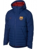 Bomber Jacket winter padded FC Barcelona Nike Sportswear Men 2018 19 blue
