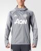 Manchester United Adidas WARM TOP Felpa Allenamento Sweatshirt Grigio 2017 18