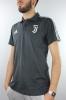 Juventus Adidas Polo Maglia Shirt 3 Stripes Grigio 2017 18 Cotone