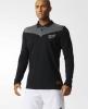 AB 16TH All Blacks New Zealand Adidas Polo Maglia maniche lunghe Nero 2015 16