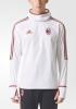 Ac Milan Adidas WARM TOP Felpa Allenamento Sweatshirt Bianco Uomo 2017 18