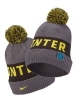 Winter wool hat INTER FC Nike BEANIE Pon Unisex 2020 21 Gray