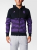 Real Madrid Adidas Giacca felpa sportiva jacket sweatshirt Nero 2017