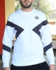 SPORTSWEAR Sweatshirt Crew UMBRO ESSENTIAL Cotton Man Original White