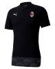 Polo Shirt Ac Milan Puma CASUAL Cotton short sleeves 2020 21 man Black