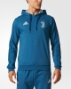 Juventus Adidas Felpa Cappuccio Hoodie Blu 2017 18