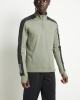 Adidas WARM 1/2 ZIP LEGGRN Running Felpa Allenamento Training Sweatshirt Verde
