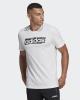 T-shirt leisure adidas Linear Brush cotton man White 2019