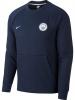 Manchester City Nike Felpa Sportiva Sportswear Crew Blu Normale Pullover Uomo