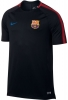 Barcellona Nike Maglia Allenamento Training Nero Breathe Squad 2017 18