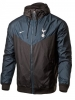 Sport Blazer Jacket Tottenham Hotspur FC Nike Sportswear Authentic Windrunner K-way  Men\'s 2018 19 Black Original