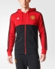 Manchester United Adidas Giacca sportiva sport Jacket 2017 18 3 Stripes Hoodie