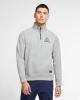 Sports sweatshirt LIVERPOOL LFC Nike Pullover sb everett mock hz Half zip cotton 2020 21 Gray