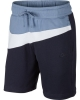 Cotton Shorts Nike Sportswear Swoosh Zip Pockets Men Original Blue