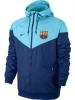 Barcellona Nike Giacca vento pioggia K-way jacket Blu Windrunner 2017 18