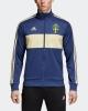 SvFF Schweden Sportjacke adidas Track Top 3 Streifen World Cup 2018 Blau Original Mann mit Reißverschlusstaschen