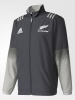 All Blacks New Zealand Adidas Giacca rappresentanza Presentation jacket Grigio
