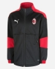 Tracksuit Jacket AC Milan Puma Bench Version BOY Black 2020 21 pockets with zip