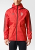 Ac Milan Adidas Giacca rain jacket all weather Rosso 2017 18 Uomo