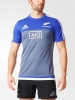 Trainings-Hemd Performance Tee All Blacks Neuseeland Ursprüngliche Adidas-Mann 2016 17 grau