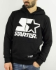 Sports Sweatshirt HOOD STARTER Pullover Cotton Man Black White