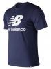 New Balance Essentials Stacked Logo Maglia Maglietta T-shirt tempo libero Blu