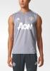 Manchester United Adidas Maglia Allenamento Training smanicato Grigio chiaro