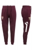 Training pants Turin Kappa Maroon 2016 17 men pockets with zip
