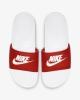 Nike Ciabatte Spiaggia Gomma Mare Piscina Doccia Flip Flops Bianco Rosso