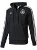 Germania Germany Adidas giacca Felpa sportiva cappuccio 3s 2017 Nero