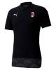 Poloshirt Ac Milan Puma CASUAL Baumwolle kurze Ärmel 2020 21 Mann Schwarz