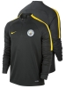 Drill Top Manchester City Nike Felpa Allenamento Training Grigio 2016 17