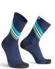 Oxyburn DRAW Calze calzini ciclismo fitness Compressive Blu