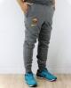 FC Barcelona tracksuit pants Nike Fleece Sweat Cuff Cotton Man 2020 21 Anthracite Zip pockets