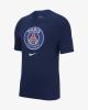 PSG Nike evergreen crest Maglia maglietta T-shirt 2019 Blu Sportswear cotone