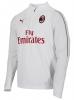 Ac Milan Puma Felpa Allenamento Training Sweatshirt Bianco Uomo TASCHE a ZIP