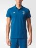 Juventus Adidas Polo Maglia 3 Stripes Uomo Blu CE8414 2017 18