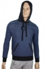 Blue Denim Hooded Sweatshirt Napoli Macron Man Original 2014 15