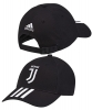 Juventus Adidas Cappello Berretto tg Unisex Nero 3 Stripes Cotone