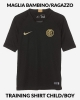 Training shirt INTER FC Nike Dry Strike Top Boy Kid Black 2019 20 short sleeves