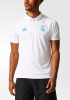 Real Madrid Adidas Polo Maglia Shirt Bianco CL 2017 18