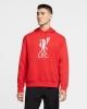 Liverpool Fc Nike Felpa Cappuccio Hoodie UOMO Pullover Fleece Sportswear Rosso