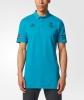 Real Madrid Adidas Polo Maglia Shirt Uefa Verde acqua Uomo 2017 18 cotone