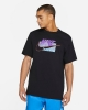 T-shirt leisure Nike leisure NSW TEE SP BRANDMARKS Man Black