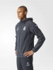 Real Madrid Adidas Giacca Rappresentanza Jacket UEFA Grigio scuro 2016 17
