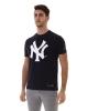 t-shirt leisure t-shirt CHAMPION Crewneck NEW YORK MLB Crewneck Blue Man short sleeves
