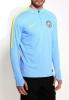 Drill Top Manchester City Nike Felpa Allenamento Sweatshirt Azzurro 2016 17